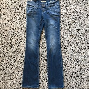 Guess Daredevil bootcut distressed jean size 26